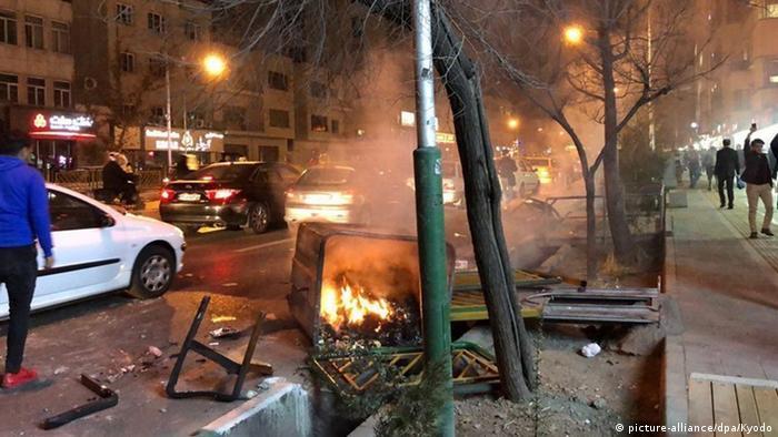 Iran Proteste gegen Regierung in Teheran (picture-alliance/dpa/Kyodo)