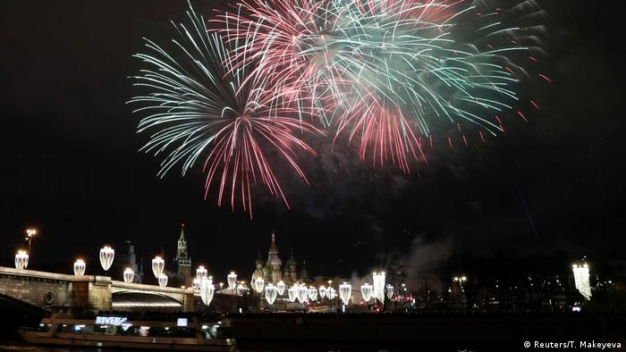 New Year's fireworks over the Kremlin in Moscow (Reuters/T. Makeyeva)