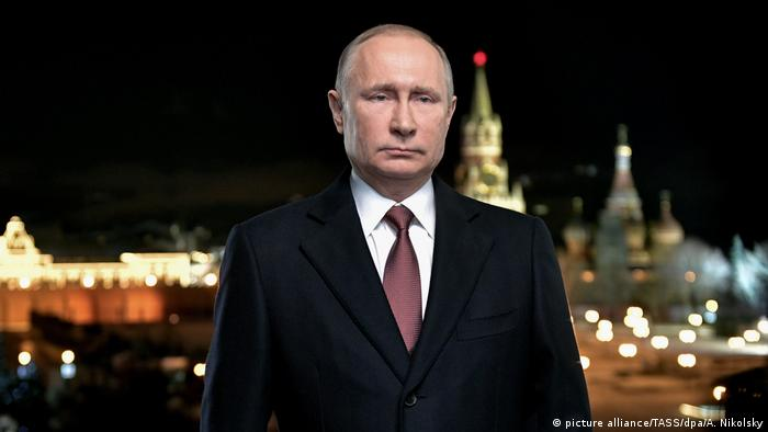 New Year's speech - Russian President Vladimir Putin (picture alliance/TASS/dpa/A. Nikolsky)