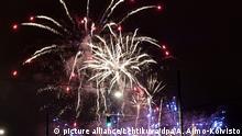 Silvester Feuerwerk in Finnland Helsinki