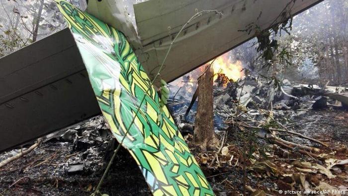 The site of a plane crash in Punta Islita, Costa Rica