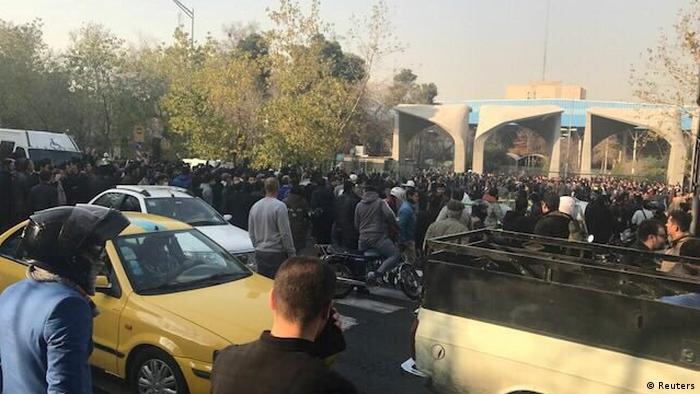 Proteste in Teheran (Reuters)