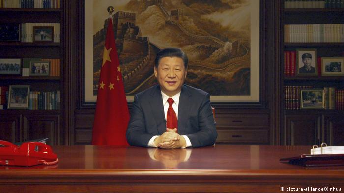China Neujahrsansprache von Xi Jinping