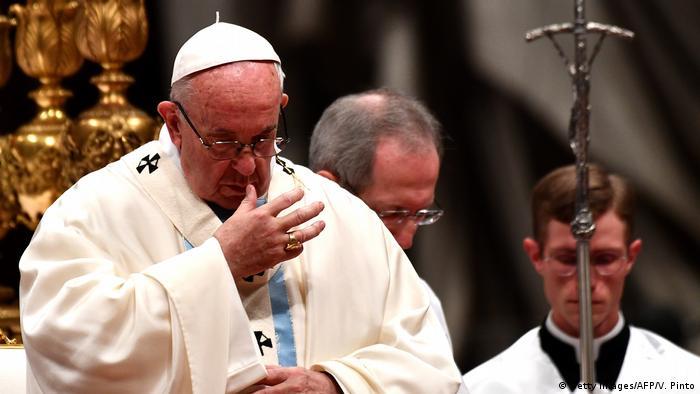 Vatikan Neujahrsmesse (Getty Images/AFP/V. Pinto)