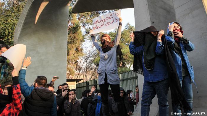 Iran Teheran Porteste