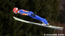 Ski Jumping - 66th Four-hills Ski Jumping Tournament trial round - Garmisch - Partenkirchen, Germany - January 1, 2018 - Germany's Richard Freitag in action REUTERS/Michael Dalder