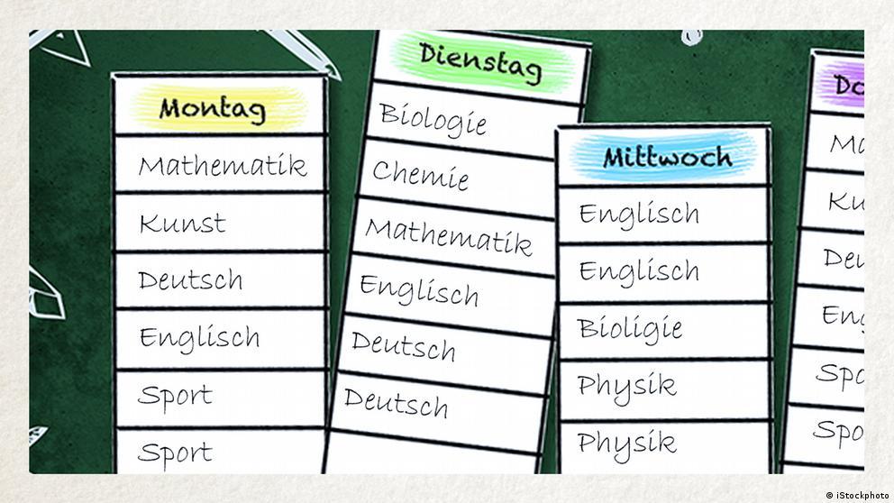 Deutschkurse | Wortschatz | WBS_Foto_Stundenplan