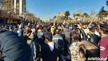 Stadt Mashhad, 29.12.2017. Protest der Bevölkerung weitet sich im Iran aus.