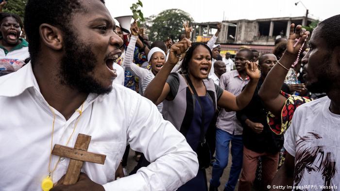 Protestos contra o Presidente Joseph Kabila em Kinshasa, no domingo (31.12)