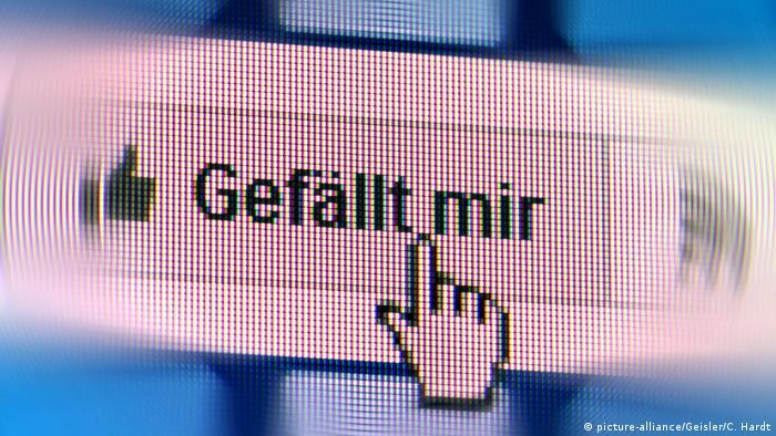 Facebook Gefällt-mir-Button (picture-alliance/Geisler/C. Hardt)