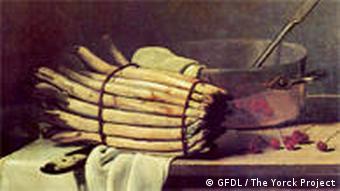 Stilleben mit Spargel aus dem Jahr 1867 (Foto: Zenodot Verlagsgesellschaft mbH)