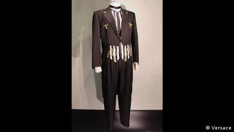 Versace's tuxedo for the musician Sting with tailcoat and striped vest (Versace)