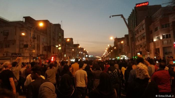 Iran Protest in Stadt Ahwaz (Enteckhab.ir)