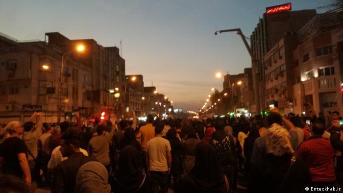 Iran Protest in Stadt Ahwaz
