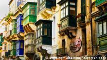 Bildergalerie Malta Valetta Holzbalkone