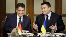 Ukraine Kiew Außenministertreffen Sigmar Gabriel und Pawlo Klimkin