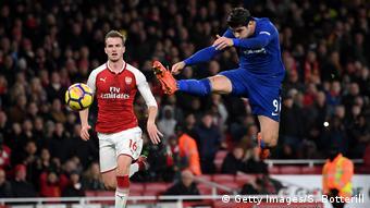 Fussball Premier League - FC Arsenal vs Chelsea - Alvaro Morata