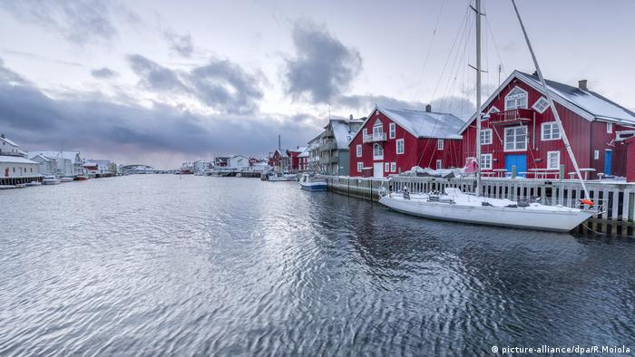 Fishing village of Henningsvaer in Norway