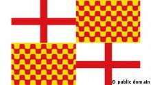 Flag of Tabarnia Quelle: https://commons.wikimedia.org/wiki/File:Flag_of_Tabarnia.SVG Tabarnia is a satirical political project within Catalonia advocating to create a new autonomous community that would decide to remain part of Spain in case of a hypothetical Catalonian independence. (https://en.wikipedia.org/wiki/Tabarnia)