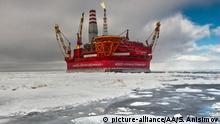 Eisresistente Ölplattform Prirazlomnaya