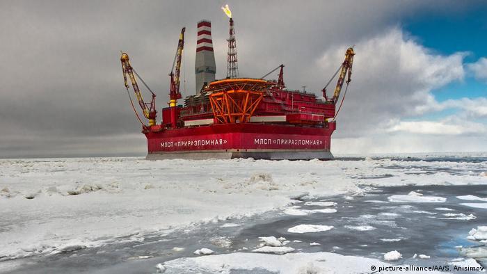 Russian oil platform Prirazlomnaya