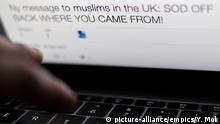 Symbolbild verbale Gewalt im Internet