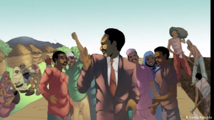 DW Videostill Projekt African Roots | Julius Nyerere, Tansania (Comic Republic)