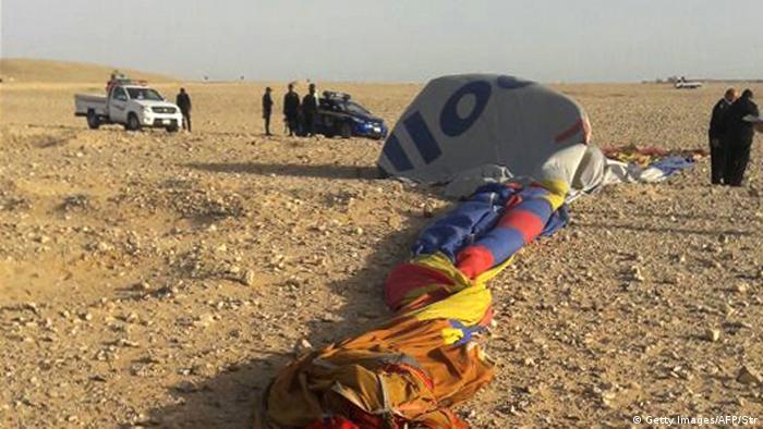 Ägypten Unfall bei Ballonfahrt bei Luxor (Getty Images/AFP/Str)