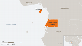 Karte Äquatorialguinea ENG