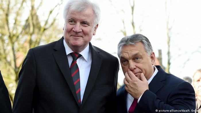 CSU party head Horst Seehofer and Hungarian Prime Minister Viktor Orban