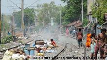 Indien Armenviertel in Kolkata