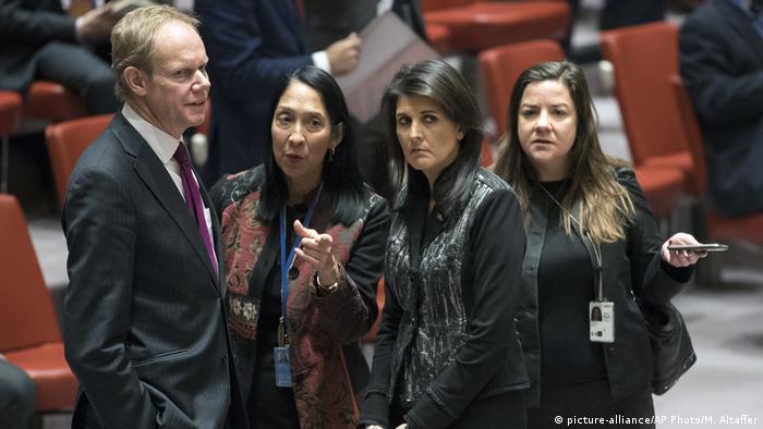 USA New York UN Sicherheitsrat Treffen zu Iran (picture-alliance/AP Photo/M. Altaffer)