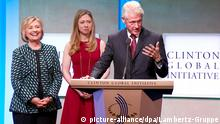 USA Bill Clinton bei der der Clinton Global Initiative in New York