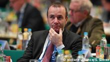 Manfred Weber at CSU party conference in 2017 (picture-alliance/S. Simon)