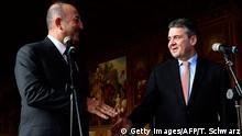 Außenminister Gabriel mit seinem türkischen Amtskollegen Cavusoglu im Januar in Goslar