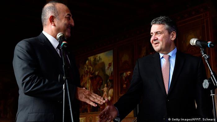 Deutschland Außenministertreffen in Goslar | Mevlut Cavusoglu und Sigmar Gabriel