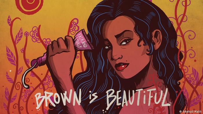 Brown is Beautiful by the Pakistani artist and designer Shehzil Malik (Shehzil Malik)