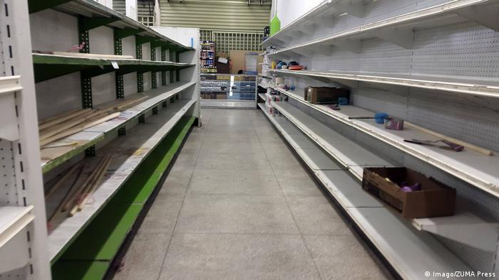 Empty shelves in Venezuela