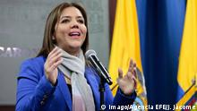 04.10.2017 Maria Alejandra Vicuna, current Urban Development and Housing Minister of Ecuador, delivers a press conference at the Government Palace in Quito, Ecuador, 04 October 2017.Maria Alejandra Vicuna will substitute Jorge Glas as Vice President during his absence while in custody for alleged corruption implications. Maria Alejandra Vicuna new Ecuadoran Vice President !ACHTUNG: NUR REDAKTIONELLE NUTZUNG! PUBLICATIONxINxGERxSUIxAUTxONLY Copyright: xJoséxJßcomex QUI003 20171005-636427638650380962