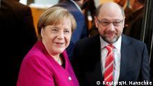 Deutschland Sondierungsgespräche in Berlin Merkel und Schulz