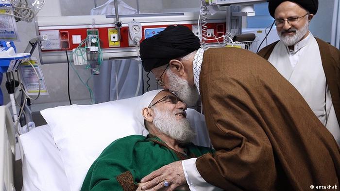 Iran - Mahmud Hashemi Shahrudi im Krankenhaus (entekhab)