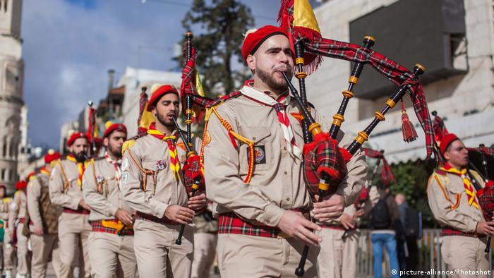 Bagpipers in Bethlehem (picture-alliance/Photoshot)