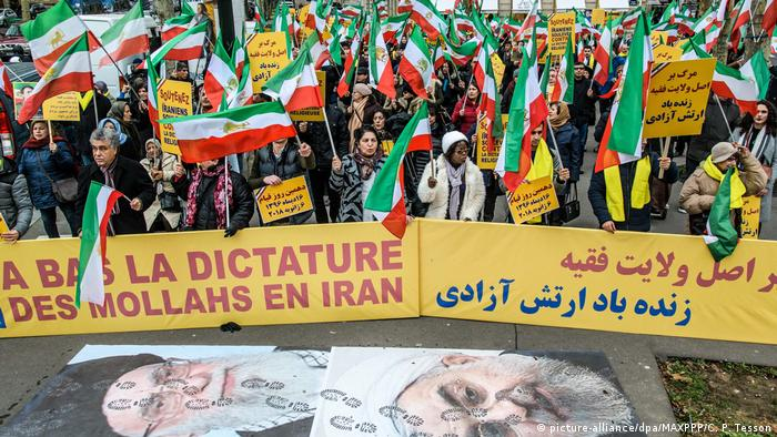 Frankreich Paris - Proteste Iran (picture-alliance/dpa/MAXPPP/C. P. Tesson)