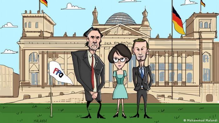 Członkowie założyciele PPD: (od l.) Piotr Mordel, Olga Bowgierd i Adam Gusowski