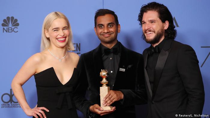 USA Golden Globes 2018 | Emilia Clarke, Aziz Ansari und Kit Harrington (Reuters/L. Nicholson)