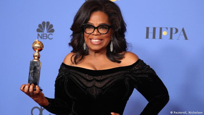 Oprah Winfrey at the Golden Globes 2018 (Reuters/L. Nicholson)