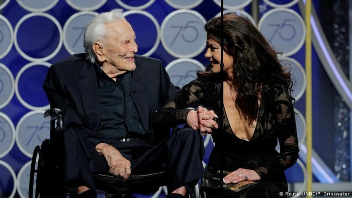 USA Golden Globes 2018   Kirk Douglas and Catherine Zeta Jones