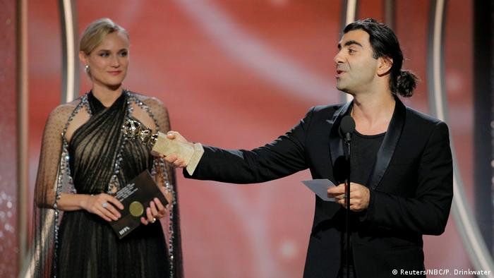Diane Kruger and Fatih Akin at the 75th Golden Globe Awards (Reuters/NBC/P. Drinkwater)