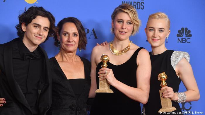 Greta Gerwig at the Golden Globes 2018 (Getty Images/AFP/F. J. Brown)
