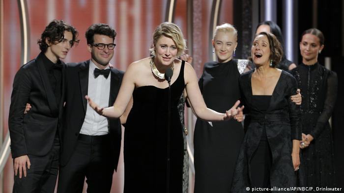 Golden Globes 2018 Greta Gerwig (picture-alliance/AP/NBC/P. Drinkwater)